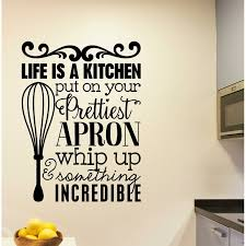 Winston Porter Grossi Life Is A Kitchen Vinyl Wall Decal Wayfair
