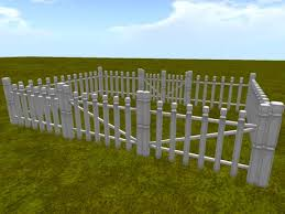 Second Life Marketplace Small Wooden Picket Fence I C M Box