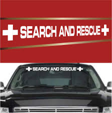 Search And Rescue Automobile Windshield Banner Decal Topchoicedecals