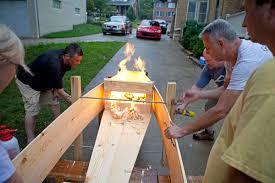 a coffin building party por