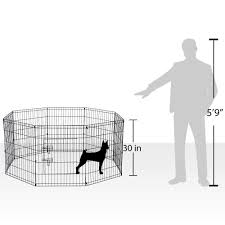 Metal Wire 8 Panel Foldable Puppy Playpen Outdoor Back Or Front Yard Fence Cage Fencing Doggie