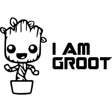 I Am Groot Decals Guardians Of The Galaxy Marvel Movie Wallstickers Passion Stickers