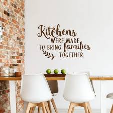 Luxury Furniture China Best Price Dining Room Wall Sticker Kitchen Quote Wall Vinyl Decal Kitchens Were Made To Bring Families Together Saying Wall Poster Ay1654