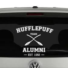 Hufflepuff Team Alumni Harry Potter Inspired Vinyl Decal Sticker