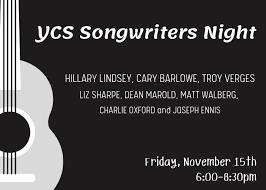 YCS Songwriters Night w/ Hillary Lindsey, Cary Barlowe, Troy Verges, Liz  Sharpe & more