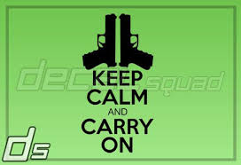 Purchase Keep Calm And Carry On 8 Vinyl Decal Truck Car Window Sticker Kcco Patriot Gun Motorcycle In Dunnellon Florida Us For Us 3 99