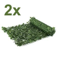 Segawe 94 X39 Faux Ivy Privacy Fence Screen Artificial Hedge Fencing Outdoor Decor X2