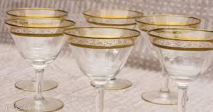 vintage gold rimmed parfait glasses