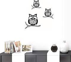 Amazon Com Bibitime Nursery Decor Vinyl Sticker 3 Branches Owls Wall Decal Birds Family Living Room Pvc Decorations Baby Kids Boys Girls Children Bedroom Classroom Art Decals Home Kitchen