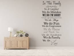 In This Family We Do Vinyl Wall Decal Inspirational Custom Vinyl Le Inspirational Wall Signs