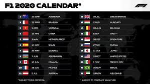Calendario Formula 1 2020: Date e orari Diretta TV dei Gran Premi di F1 su  Sky e TV8