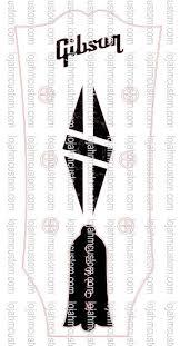 Gibson Lp Diamond Custom Headstock Fake Black Mop Logo Vinyl Sticker Hmcustom Online Shop