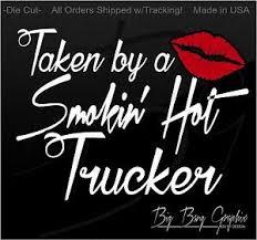 Truckers Wife Girlfriend Mom Decal Sticker Love Husband Boyfriend Trucker Funny Ebay