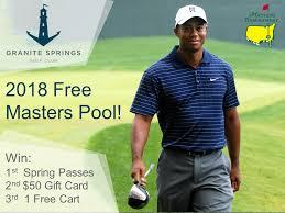 2018 free masters pool granite