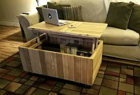 reclaimed lift top coffee table