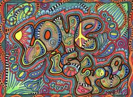 typography love hippie hd wallpaper