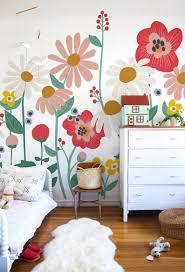 Flower Garden Removable Wallpaper Mural White In 2020 Kids Room Murals Bedroom Murals Mural Wallpaper