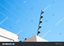 View Electric Fence Installation On Concrete Stock Photo Edit Now 168712496