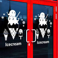 Ice Cream Vinyl Wall Decal Dessert Shop Ice Cream Lettering Words Mural Art Wall Sticker Dessert House Window Glass Decoration Glass Decoration Art Wall Stickervinyl Wall Decals Aliexpress