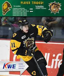 LONDON AND HAMILTON COMPLETE TRADE – London Knights