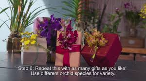 diy gift wrapping with orchids you