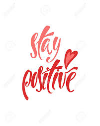 stay positive inspirational quote about happiness modern