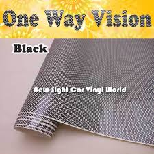 Printable Double Black One Way Vision Vinyl Film One Way Vision Window Sticker For Eco Solvent Printer Size 1 07x50m Roll Vinyl Film Stickers Stickersfilm Sticker Aliexpress