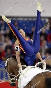 Spanish Vaulter Noemi Smith Betrian Performs Exercises Editorial ...