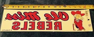 University Of Mississippi Ole Miss Rebels Window Sticker Wth Colonel Reb Ebay