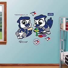 Fathead 51 51548 Wall Decal Mlb Toronto Blue Jays Baby Mascot Duo Realbig Wall Decals Amazon Canada