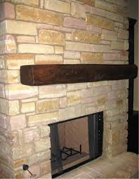 faux fireplace mantel as focal