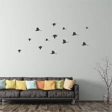 Flock Of Flying Birds Wall Sticker Peel And Stick Wall Decals Etsy Above Bed Decor Bird Decor Wall Sticker