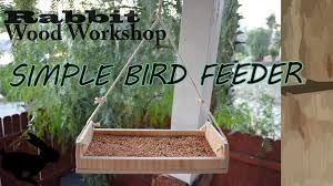 How To Build A Simple Hanging Bird Feeder Youtube
