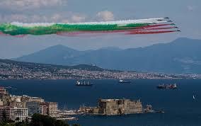 Frecce Tricolori 2020, oggi il passaggio su Napoli. FOTO