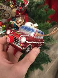 little mini cooper christmas ornament