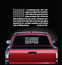 Military Decals Oath Of Enlistment Flag Sticker Custom Sticker Shop
