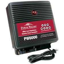 Power Wizard Pw6000 Ultra Low Impedance 100 Mile Electric Fence Energizer Heavy Duty Fence Charger
