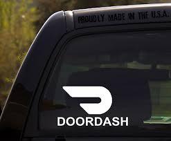 Amazon Delivery Sticker Decal Sign Uber Lyft Door Window Glass Bumper Car