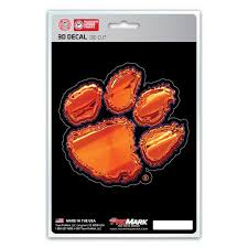 Clemson Tigers 3d Die Cut Decal New 4 X 4 Window Or Car Flat Decal Hub City Sports