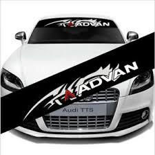 Universal Advan Auto Car Front Rear Windshield Banner Decal Reflective Sticker Ebay