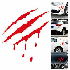 Auto Reflective Car Headlight Monster Stickers Scratch Stripe Claw Vinyl Decals 4 98 Picclick