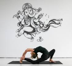 Ik514 Wall Decal Sticker Art Indian God Ganesha Hindu Welfare Meditati Stickersforlife