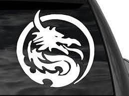 Fgd Chinese Dragon Rear Window Decal Sticker 5 X 5 Family Graphix Llc