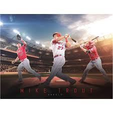 Mike Trout Los Angeles Angels Fathead Giant Removable Wall Mural