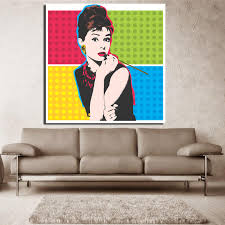 Andy Warhol Vintage Canvas Paintings Print Posters Colorful Audrey Hepburn Oil Painting Wall Art Pictures Living Room With Free Shipping Worldwide Weposters Com