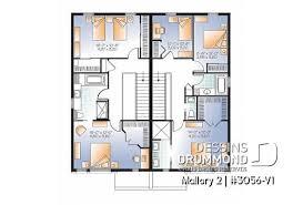 plan de duplex et modèle de triplex