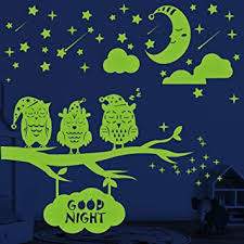 Amazon Com Glow In The Dark Stars Moon Owls Wall Stickers 356 Pcs Glowing Stars For Ceiling Wall Decals For Kids Rooms Baby Kids Bedroom Decor Birthday Gift For Kids Baby