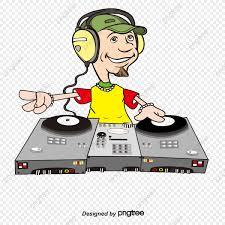 cartoon dj djing png and vector
