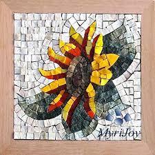 mosaic kit diy sunflower italian marble