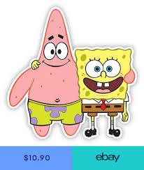 Sponge Bob Patrick Cartoon Sticker Decal Laptop Wall Car Phone Spongebob Painting Spongebob Cartoon Stickers